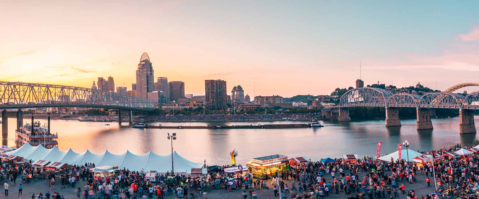 Cincinnati Riverfest for the WEBN/Western Southern fireworks on labor day